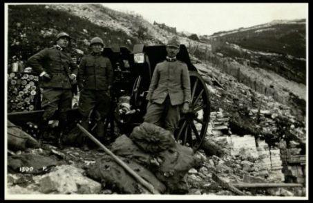 Il capitano comandante la 7a batteria del 56° artigl.a  da campagna che cambiò fronte ai propri pezzi portandoli in linea colla fanteria