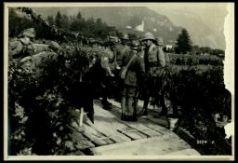 Distribuzione onorificenze e doni in denaro dai rappresentanti di Brescia alla VI Armata