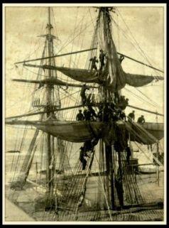 Accademia Navale 1903. Marinai sugli alberi di una nave
