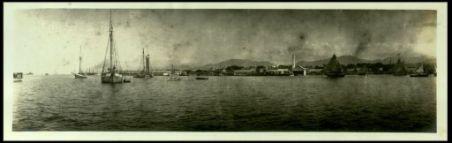 Panorama di Port of Spain (Trinidad). Light house jetty