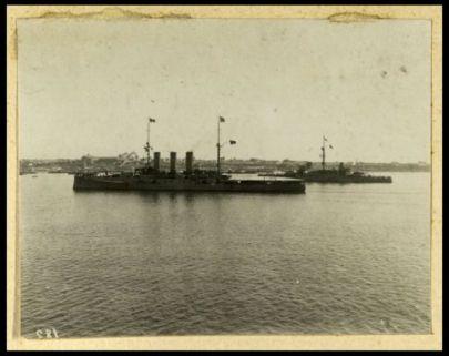 La forza navale in rada di Augusta. Settembre 1907