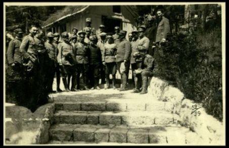 La Missione americana d'aviazione visita il fronte italiano, luglio 1917
