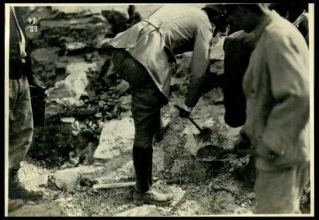 Lavori di mina per piazzuole d'artiglieria