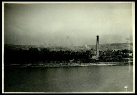Bombardamento dell'Hermada, visto da Monfalcone