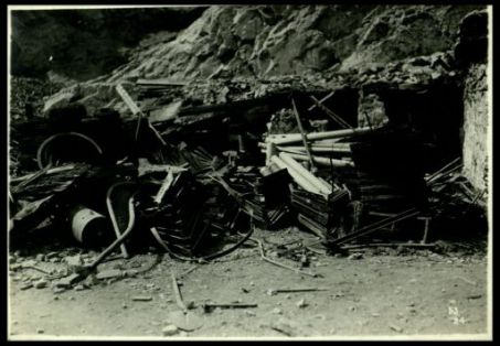 Materiali da guerra raccolti in doline