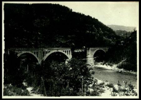 Veduta di Bodrez e ponte distrutto dagli austriaci