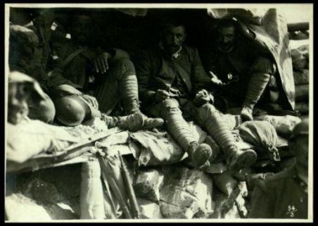 In un ricovero durante il bombardamento