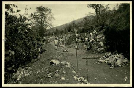 Costruzione d'una nuova strada lungo il medio Isonzo