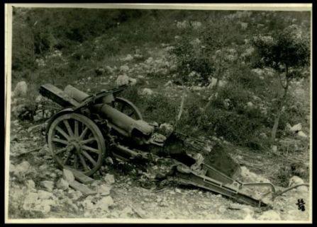 Materiale bellico abbandonato dagli austriaci
