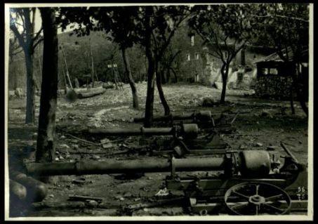 Materiale da guerra abbandonato dagli austriaci