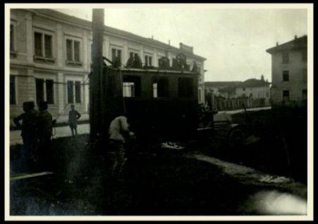 La stazione auto telegrafica a Udine