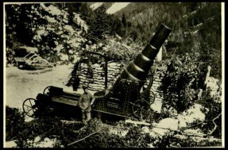 Un obice da 280 in Val Raccolana