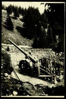Cannone da 149 in Val Raccolana