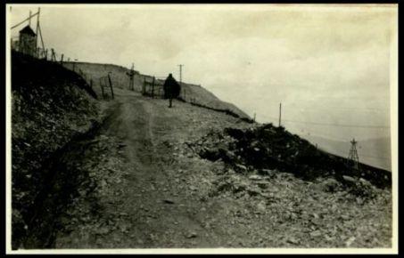 Val Sugana. La strada del Lisser bombardata