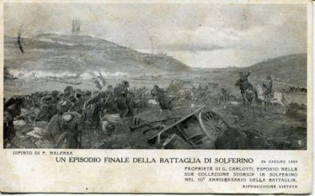 Un episodio finale della battaglia di Solferino 24 giugno 1859
