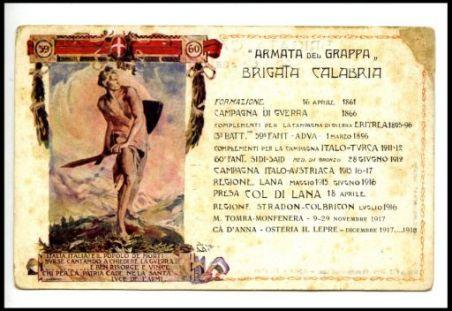 """""""Armata del Grappa"""" : Brigata Calabria"""