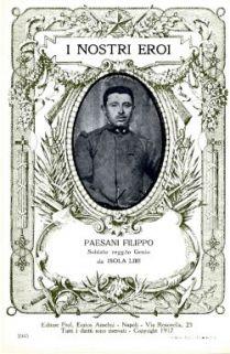 I nostri eroi : Paesani Filippo, soldato regg.to Genio, da Isola Liri