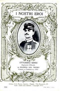 I nostri eroi : Ottorino Minni aspirante ufficiale da Bagnoli del Trigno caduto a Castelnuovo 1915