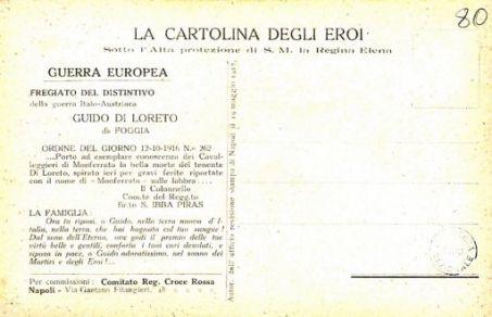 I nostri eroi : Guido Di Loreto da Foggia, tenente cavalleggieri Monferrato, caduto a Monfalcone 11 ottobre 1916