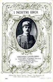I nostri eroi : Francesco Livoti-Ziino da Mazzarrà S. Andrea (Messina), sottotenente mitragliere, caduto a S. Martino del Carso il 29 giugno 1616 [i.e. 1916]