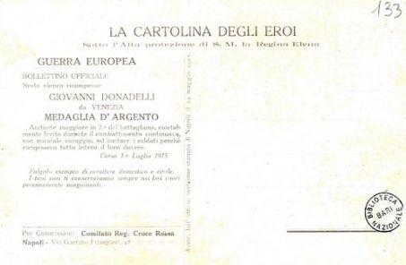 I nostri eroi : Giovanni Donadelli, tenente di Fanteria, da Venezia, caduto il 1° luglio 1915 sul Carso