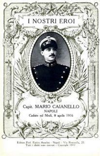 I nostri eroi : capit. Mario Caianello, Napoli, caduto sul Mrzli, 8 aprile 1916