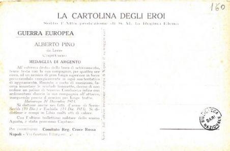 I nostri eroi : Alberto Pino, da Lecce, capitano