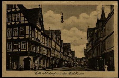 Celle, Schuhstrasse mit alten Giebelhausen