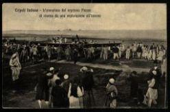Tripoli Italiana. L'aeroplano del capitano Piazza di ritorno da una esplorazione all'interno