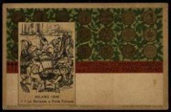Cartolina Commemorativa delle 5 Giornate Marzo 1848