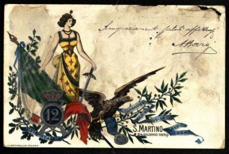 12. Brigata Casale. Campagne 1848-1849 1855-1856 1859 1866. S. Martino 24 Giugno 1859
