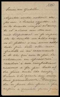Lettera di Luigi Solidati Tiburzi inviata al fratello Antonio Solidati Tiburzi