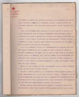 """""""Infermiere volontarie e loro azione spiegata durante la guerra: relazione di Emilia Anselmi Malatesta, segretaria di S.A.R. la Duchessa d'Asota""""."""