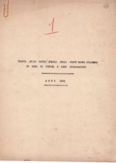 """""""Elenco delle unità mobili della Croce Rossa Italiana in zona di guerra e loro dislocazioni. Anno 1915""""."""