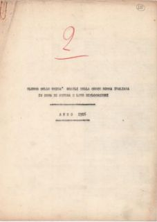 """""""Elenco delle unità mobili della Croce Rossa Italiana in zona di guerra e loro dislocazioni. Anno 1916""""."""