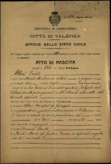 Albini Cesare, Valenza (Alessandria)