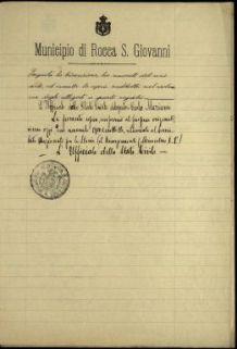 Alfino Consiglio, Rocca S. Giovanni (Chieti)