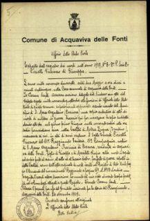 Cirielli Vincenzo, Acquaviva delle Fonti (Bari)