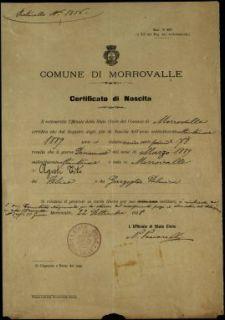 Agosti Tito, Morrovalle (Macerata)