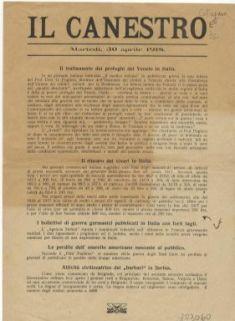 Il canestro : martedì, 30 aprile 1918