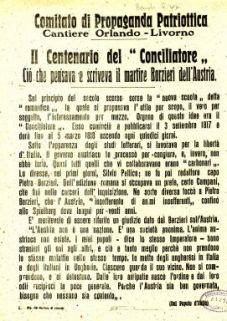 """2. centenario del """"Conciliatore"""" : ciò che pensava e scriveva il martire Borzieri dell'Austria"""