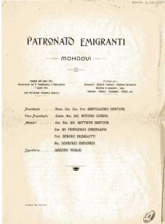 Relazione morale anno 1916 / Patronato Emigranti Mondovì