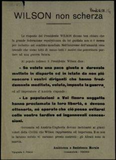 Wilson non scherza  / Assistenza e Resistenza morale, Orsanmichele Firenze