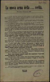La nuova arma della ... verità. Martedì, 19 marzo 1918