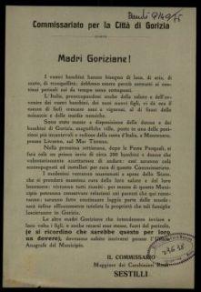 Madri goriziane!  / Commissiariato per la città di Gorizia