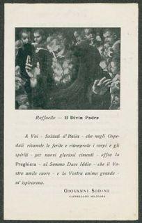 Preghiera a Dio del soldato italiano negli ospedali  / Giovanni Sodini