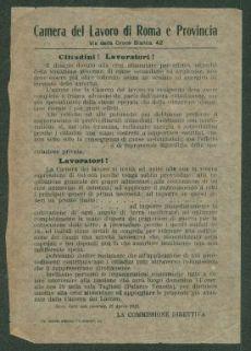 Cittadini! Lavoratori!  / Camera del lavoro di Roma e Provincia