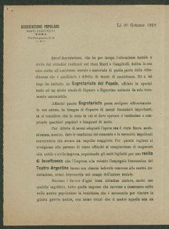 Associazione popolare Monti Campitelli, Roma