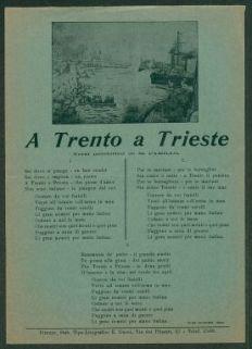 A Trento a Trieste  / versi patriottici di M. Camillo