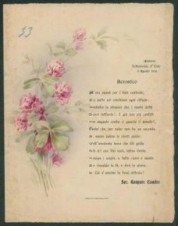 Acrostico  / Sac. Gaspare Candeo